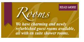 We have charming and newly refurbished guest rooms available, all with en suite shower rooms.